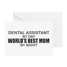 World's Best Mom - Dental Asst Greeting Cards (Pk