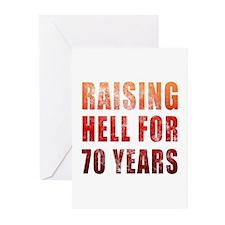 Raising Hell 70th Birthday Greeting Cards (Pk of 1