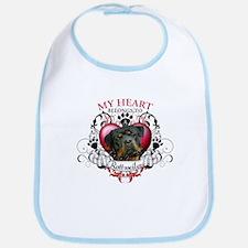 My Heart Belongs to a Rottweiler 3 Bib