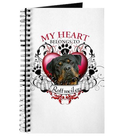 My Heart Belongs to a Rottweiler 3 Journal