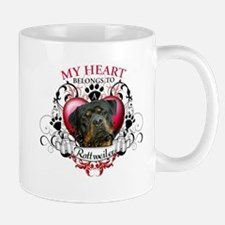 My Heart Belongs to a Rottweiler 3 Mug