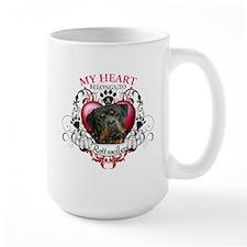 My Heart Belongs to a Rottweiler 3 Mug