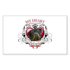 My Heart Belongs to a Rottweiler 3 Decal