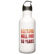 Raising Hell 50th Birthday Water Bottle