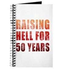 Raising Hell 50th Birthday Journal