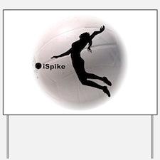 ispike Volleyball Yard Sign