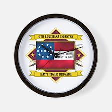 6th Louisiana Irish Wall Clock