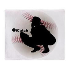 iCatch Baseball Throw Blanket