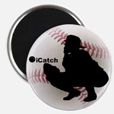 """iCatch Baseball 2.25"""" Magnet (10 pack)"""