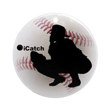 iCatch Baseball Ornament (Round)