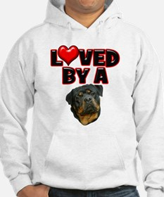 Loved by a Rottweiler 2 Hoodie