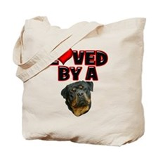 Loved by a Rottweiler 2 Tote Bag