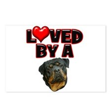 Loved by a Rottweiler 2 Postcards (Package of 8)