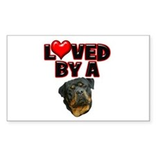 Loved by a Rottweiler 2 Decal