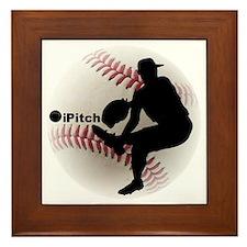 iPitch Baseball Framed Tile