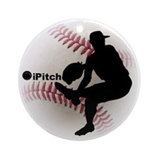 iPitch Baseball Ornament (Round)