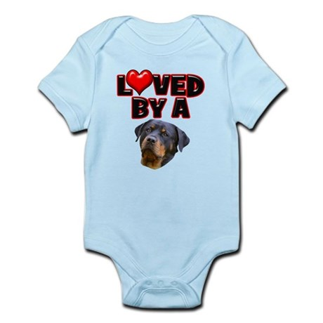 Loved by a Rottweiler 3 Infant Bodysuit