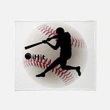 Baseball iHit Throw Blanket