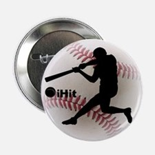 "Baseball iHit 2.25"" Button (10 pack)"