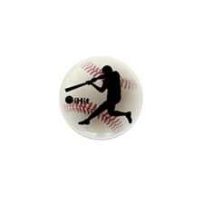 Baseball iHit Mini Button (10 pack)