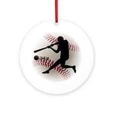 Baseball iHit Ornament (Round)