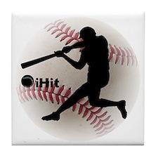 Baseball iHit Tile Coaster