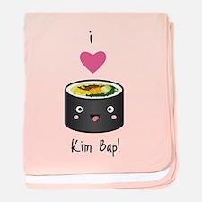 I Love Kim Bap (Korean Sushi) baby blanket
