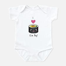 I Love Kim Bap (Korean Sushi) Infant Bodysuit