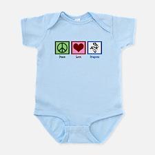 Peace Love Dragons Infant Bodysuit