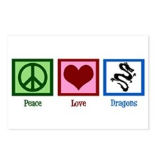 Peace Love Dragons Postcards (Package of 8)