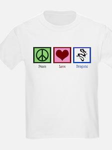 Peace Love Dragons T-Shirt
