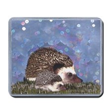 Hedgehogs by Moonlight Mousepad