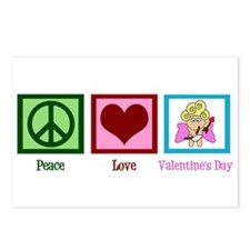 Peace Love Valentine Postcards (Package of 8)
