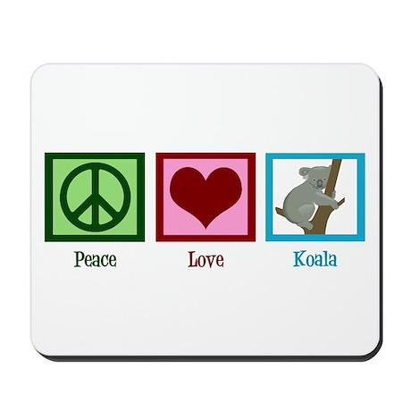 Peace Love Koala Mousepad