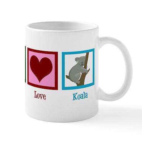Peace Love Koala Mug