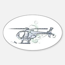 MH6 Helicopter Decal