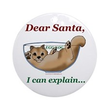 Dear Santa Pom Ornament (Round)