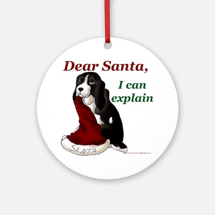 Dear Santa Springer Ornament (Round)
