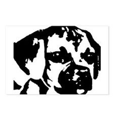 puggle - black & white Postcards (Package of 8)