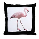 Flamingo Wearing Shoes Throw Pillow