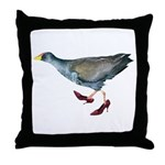 Moor Hen Wearing Shoes Throw Pillow