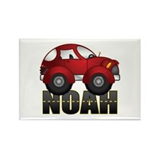 Noah Red Car Rectangle Magnet
