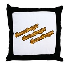 Snl Cheeseburger Quote Throw Pillow