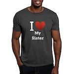 I Love My Sister Dark T-Shirt