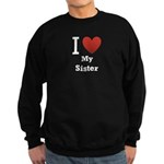 I Love My Sister Sweatshirt (dark)