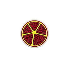 abstract pomegranate Mini Button
