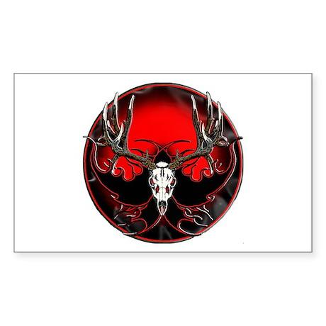 Trophy mule deer flame Sticker (Rectangle)