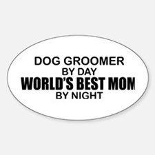 World's Best Mom - Dog Groomer Decal
