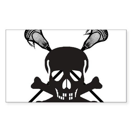 Skullz Lax Sticker (Rectangle)
