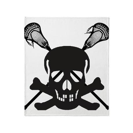 Skullz Lax Throw Blanket